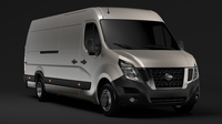Nissan NV 400 L4H2 Van 2017 3D Model