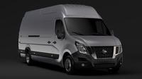 Nissan NV 400 L4H3 Van 2017 3D Model