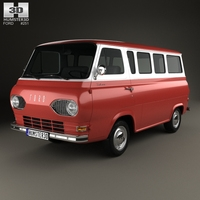 Ford E-Series Falcon Club Wagon 1963 3D Model