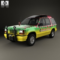 Ford Explorer Jurrasic Park 1993 3D Model