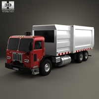 Peterbilt 320 Garbage Truck 2008 3D Model