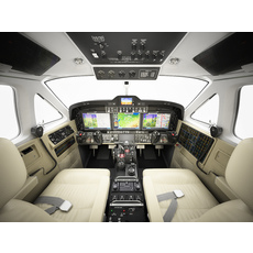 Beechcraft King Air c90gtx interior 3D Model