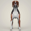 07 36 37 777 realistic hound black dog 02 4