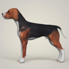 07 36 37 879 realistic hound black dog 03 4