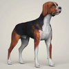 07 36 37 880 realistic hound black dog 06 4