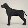 07 49 34 495 realistic black labrador dog 03 4
