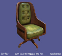 Vintage retro office Chair 3D Model