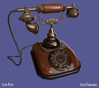 Antique Vintage Retro Phone 3D Model