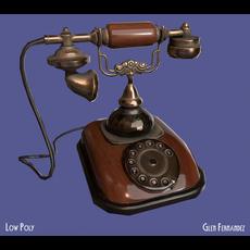 Antique Vintage Retro Phone 3D Model