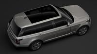 Range Rover Hybrid LWB L405 2018 3D Model