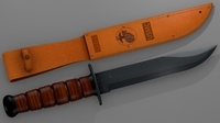 Knife Ka-Bar 3D Model