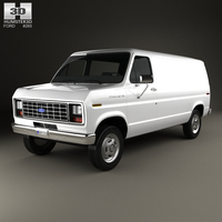 Ford E-Series Econoline Cargo Van 1986 3D Model