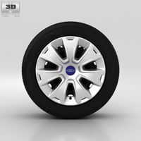 Ford Mondeo Wheel 16 inch 001 3D Model