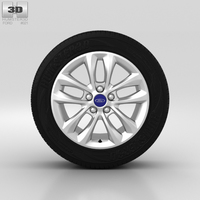 Ford Mondeo Wheel 16 inch 005 3D Model