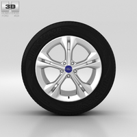 Ford Mondeo Wheel 17 inch 001 3D Model