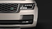 Range Rover Autobiography Hybrid LWB L405 2018 3D Model