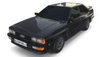 1981 Audi Coupe Quattro Black 3D Model