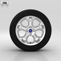 Ford Fiesta Wheel 17 inch 001 3D Model