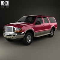 Ford Excursion 1999 3D Model