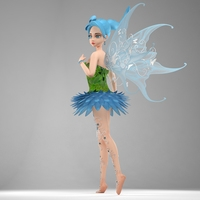 Fairy Winnie 3D Model