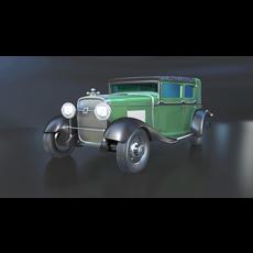 1928 Cadillac V-8 3D Model