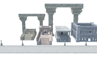 textured greek roman temples buildings architecture 3D Model