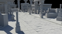ancient greek roman temples buildings architecture 3D Model