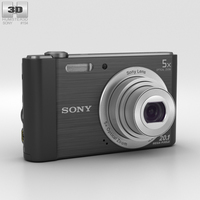 Sony Cyber-shot DSC-W800 Black 3D Model