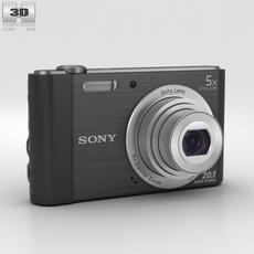 Sony Cyber-shot DSC-W800 Black 3D Model