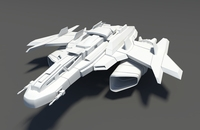 Spaceship Spacecraft Jet 3D Model
