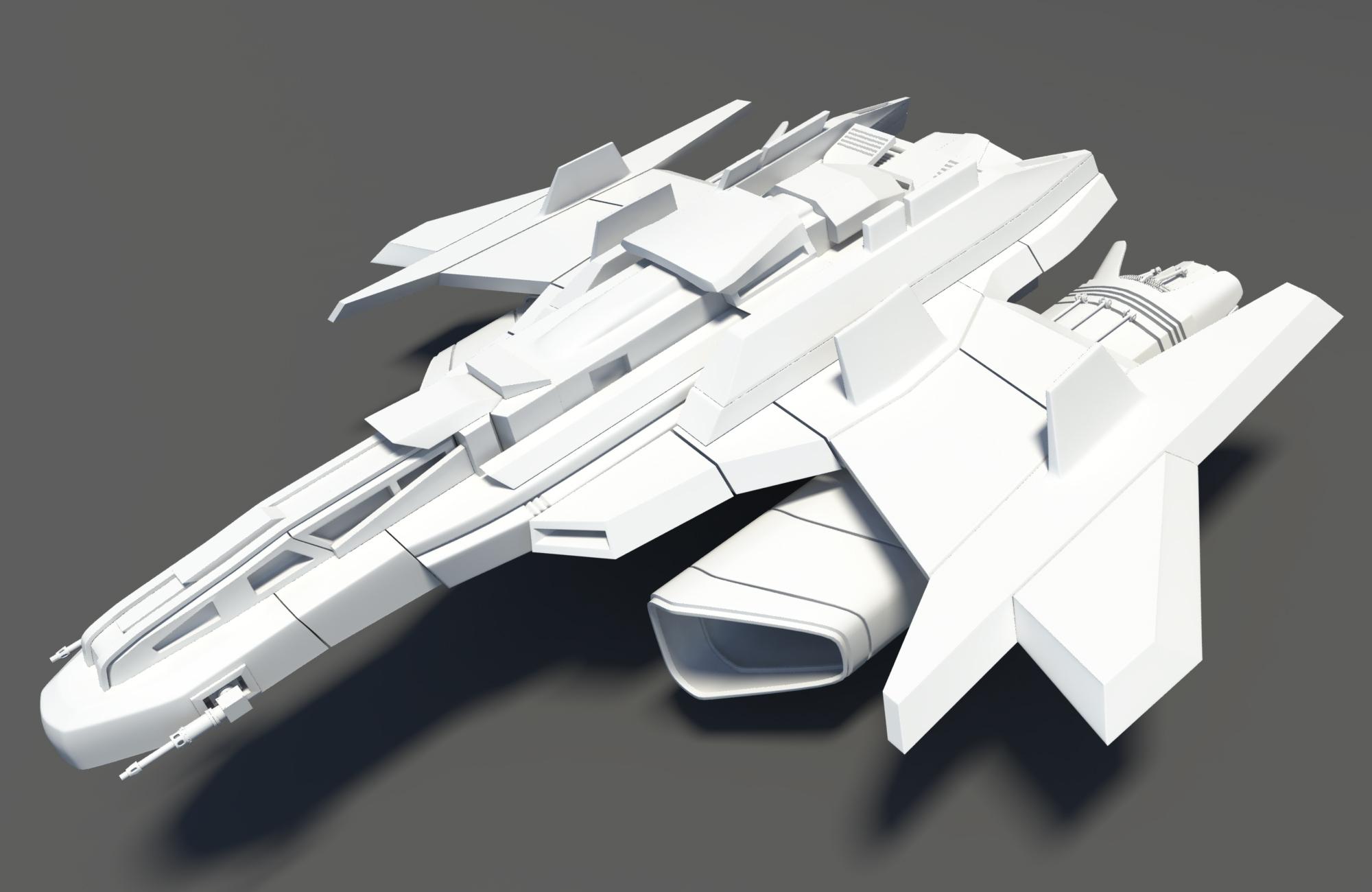 Spaceship Spacecraft Jet 3D Model