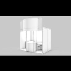 Exhibition stand design. 3D Model
