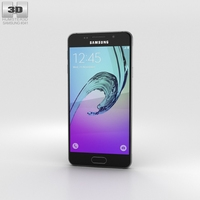 Samsung Galaxy A3 (2016) Black 3D Model