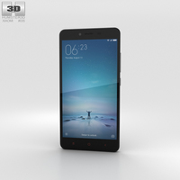 Xiaomi Redmi Note 2 Black 3D Model