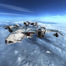 Sci-fy Dropship 3D Model