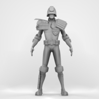 Judge Dredd 3D Model