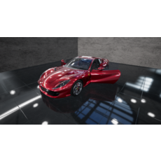 2017 Ferrari 812 Superfast with Interior 3D Model