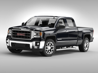 GMC Sierra Crew Cab (2014) 3D Model