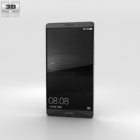Huawei Mate 8 Space Gray 3D Model