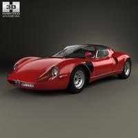Alfa Romeo 33 Stradale 1967 3D Model