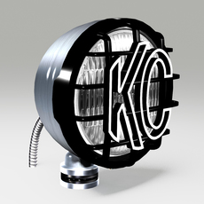 OFF ROAD FOG LIGHT 1 SILVER 3D Model