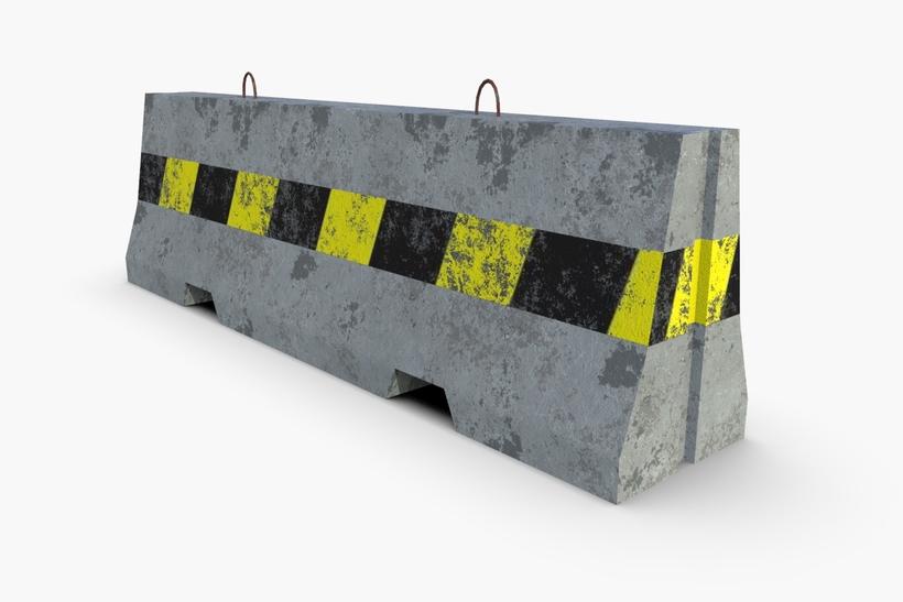 Concrete Barrier 3D Model