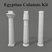 Ancient Egyptian Columns Kit 3D Model