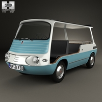 Fiat 600 Multipla Marinella 1958 3D Model