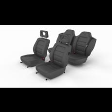 Generic Black Leather Car Seats 3D Model