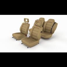Generic Brown Leather Car Seats 3D Model