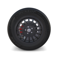 Generic Dark Alloy Wheel and Brake 3D Model