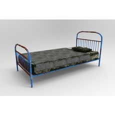 Old bed with mold 3D Model