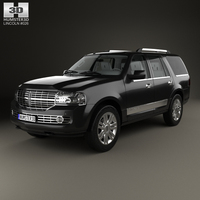 Lincoln Navigator with HQ interior 2007 3D Model