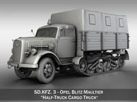 Opel Blitz Maultier - Half-Truck Cargo truck 3D Model